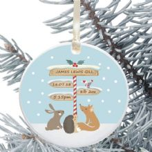 Ceramic Keepsake Newborn Christmas Tree Decoration - Signpost Design